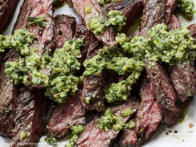 Tuscan Skirt Steak with Salsa Verde